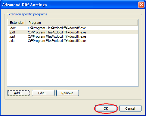 xdocdiff - diff for Word, Excel, pdf files with TortoiseSVN -